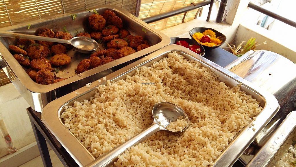 """Photo of Millets of Mewar  by <a href=""""/members/profile/Gudrun"""">Gudrun</a> <br/>Vegan buffet @ Millets of Mewar <br/> May 21, 2017  - <a href='/contact/abuse/image/30697/261001'>Report</a>"""
