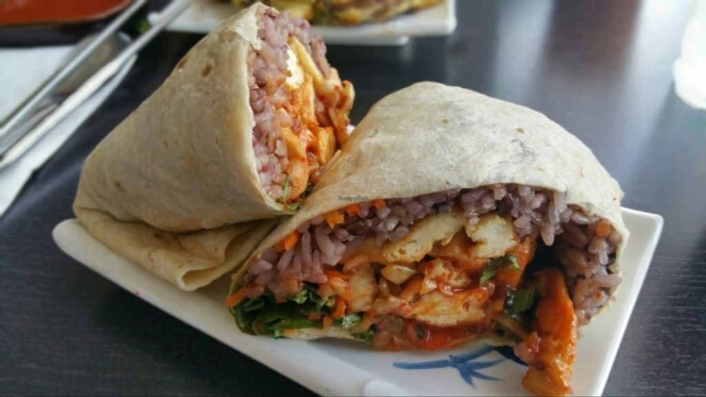 "Photo of Sura Korean BBQ and Tofu  by <a href=""/members/profile/anne420"">anne420</a> <br/>Tofu burrito  <br/> April 5, 2016  - <a href='/contact/abuse/image/30699/142992'>Report</a>"