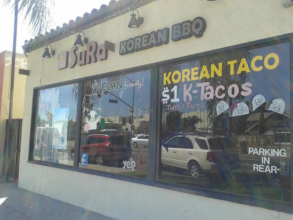 "Photo of Sura Korean BBQ and Tofu  by <a href=""/members/profile/chobesoy"">chobesoy</a> <br/>vegan friendly on the window! :) <br/> September 25, 2014  - <a href='/contact/abuse/image/30699/81035'>Report</a>"