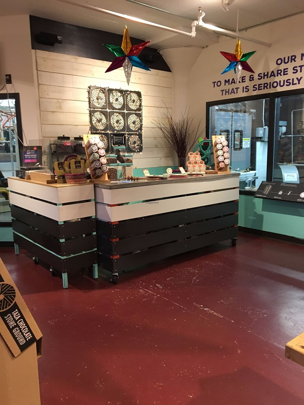 """Photo of Taza Chocolate  by <a href=""""/members/profile/sophiefrenchfry"""">sophiefrenchfry</a> <br/>Interior of Taza store <br/> December 7, 2017  - <a href='/contact/abuse/image/30701/333245'>Report</a>"""