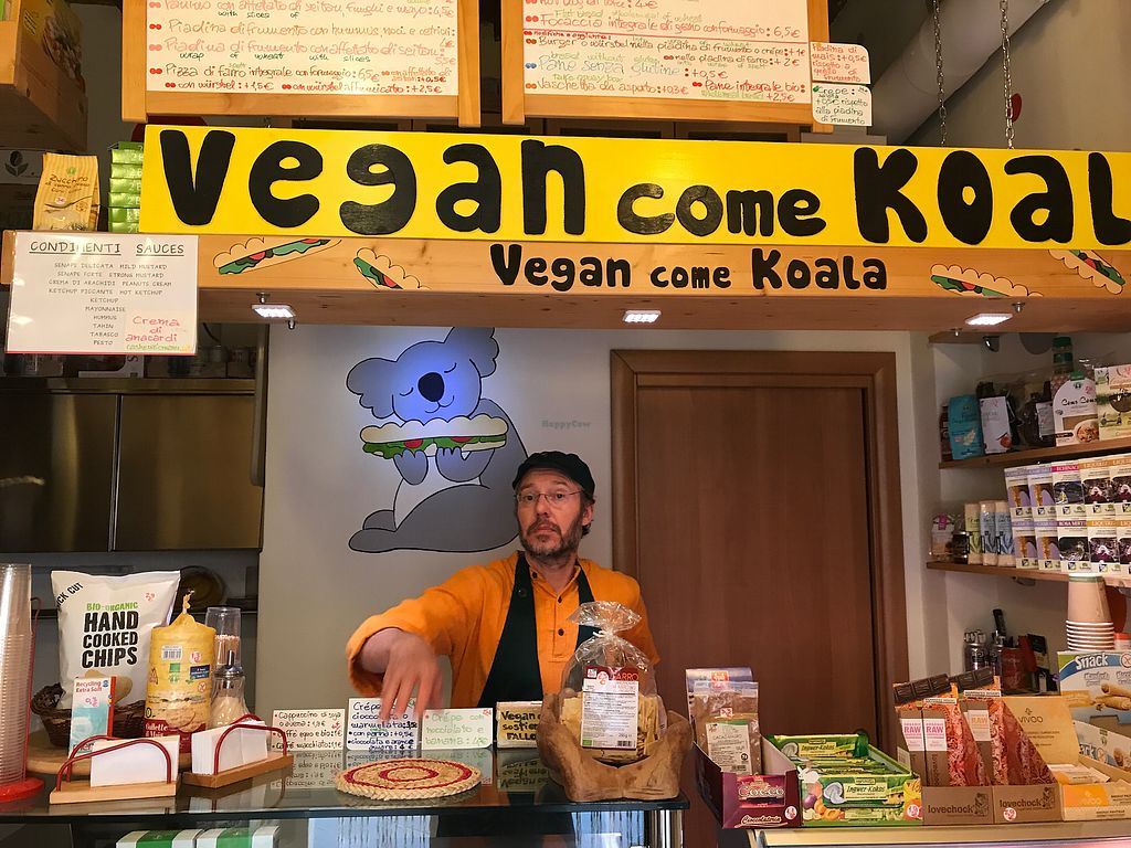 """Photo of Vegan Come Koala  by <a href=""""/members/profile/NorthOfSixty"""">NorthOfSixty</a> <br/>Helpful owner and shop packed with vegan goodies <br/> October 6, 2017  - <a href='/contact/abuse/image/30709/312270'>Report</a>"""