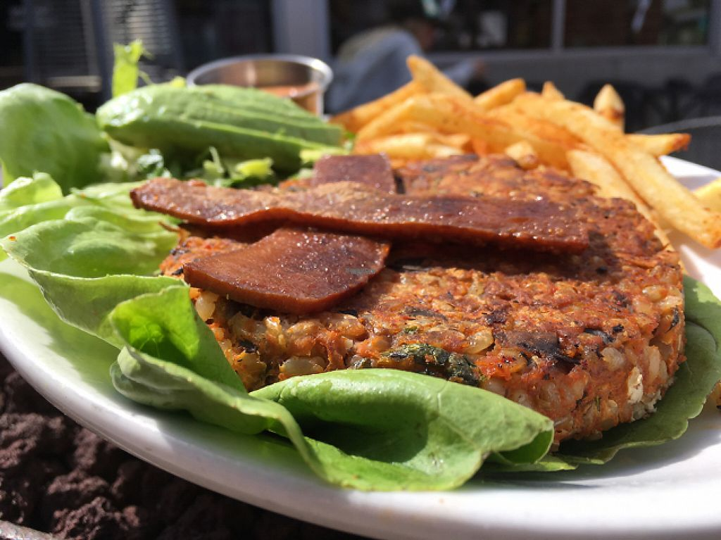 "Photo of Native Foods - Costa Mesa  by <a href=""/members/profile/milos99"">milos99</a> <br/>build your own burger - lentil + lettuce cup : yum! <br/> February 26, 2017  - <a href='/contact/abuse/image/3075/230502'>Report</a>"
