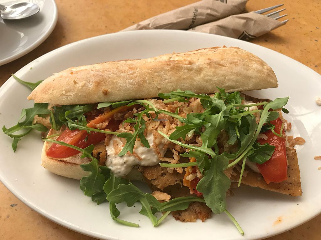 "Photo of Native Foods - Costa Mesa  by <a href=""/members/profile/xmrfigx"">xmrfigx</a> <br/>Seitan Steak Sandwich <br/> October 17, 2017  - <a href='/contact/abuse/image/3075/316071'>Report</a>"