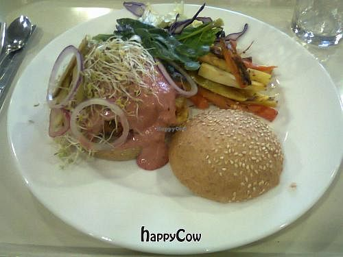 """Photo of Pique-Prune - St. Gregoire  by <a href=""""/members/profile/JonJon"""">JonJon</a> <br/>Veggie burger with hummus <br/> February 7, 2013  - <a href='/contact/abuse/image/30773/43928'>Report</a>"""