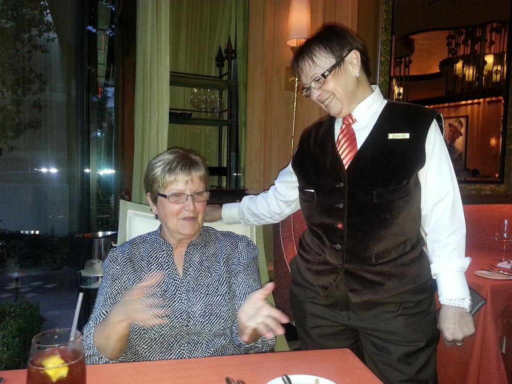 """Photo of Wynn Hotel - Sinatra  by <a href=""""/members/profile/SkipStein"""">SkipStein</a> <br/>Nancy explaining just what Vegan cuisine should be <br/> March 11, 2014  - <a href='/contact/abuse/image/30822/65688'>Report</a>"""