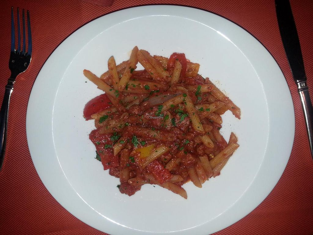 """Photo of Wynn Hotel - Sinatra  by <a href=""""/members/profile/SkipStein"""">SkipStein</a> <br/>Pasta with flavourless tomato sauce <br/> March 11, 2014  - <a href='/contact/abuse/image/30822/65691'>Report</a>"""