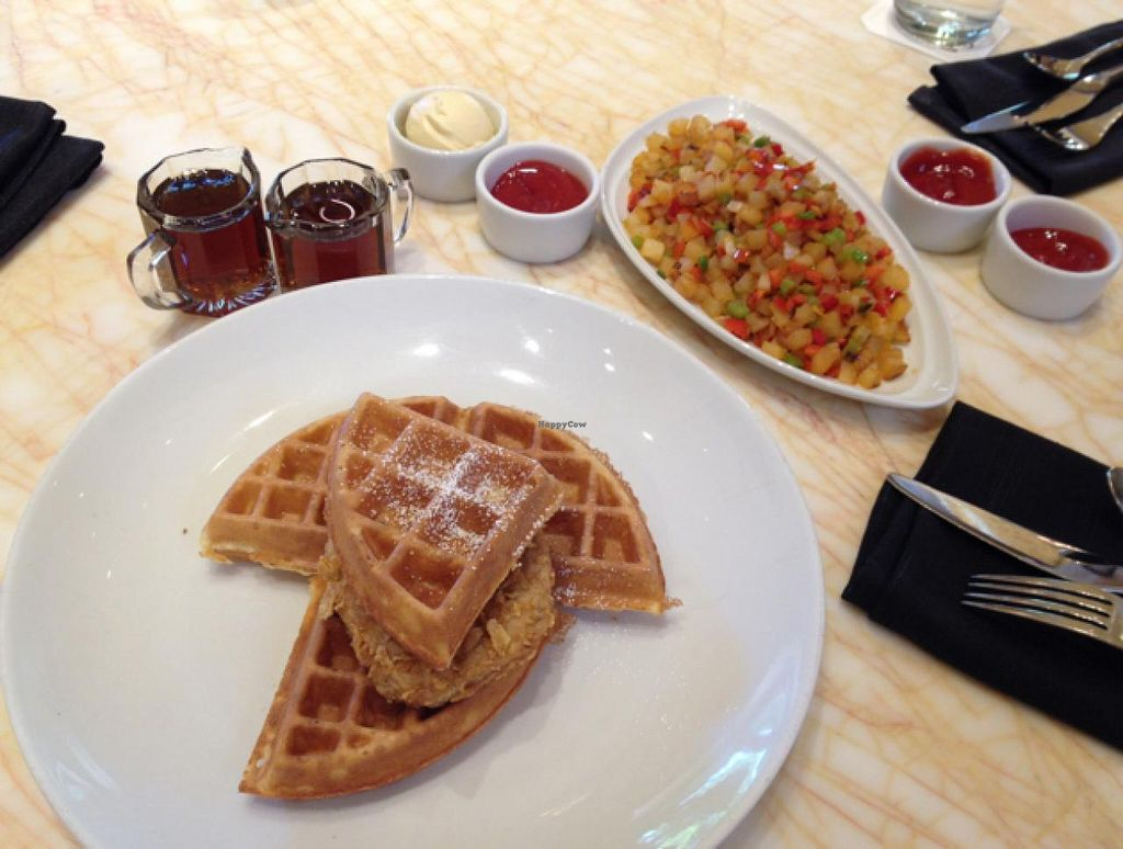 """Photo of Wynn Hotel - Terrace Pointe Cafe  by <a href=""""/members/profile/Tigra220"""">Tigra220</a> <br/>vegan Chicken n' Waffles  <br/> June 21, 2015  - <a href='/contact/abuse/image/30823/106726'>Report</a>"""