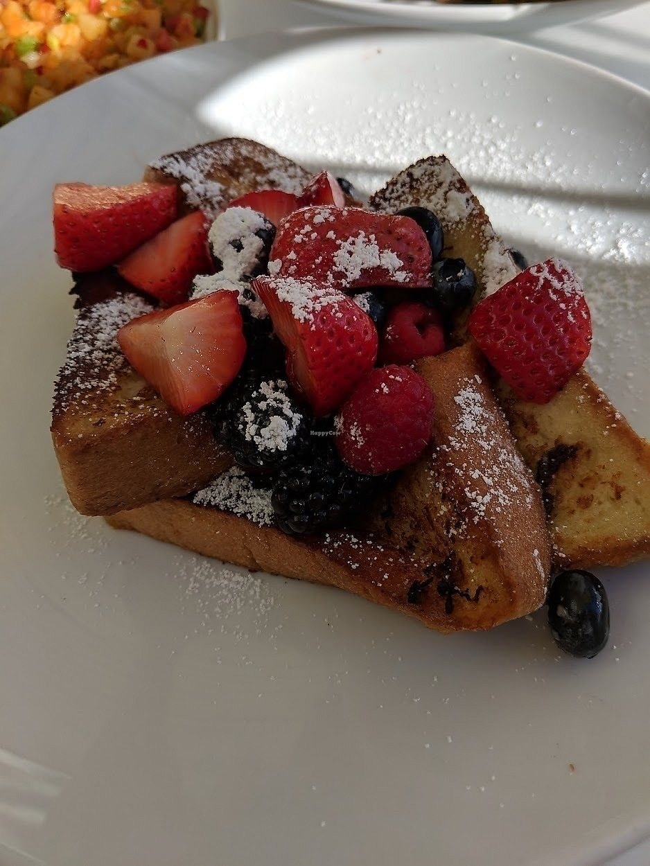 """Photo of Wynn Hotel - Terrace Pointe Cafe  by <a href=""""/members/profile/theresabee"""">theresabee</a> <br/>French Toast with Fresh Berries <br/> November 20, 2017  - <a href='/contact/abuse/image/30823/327428'>Report</a>"""