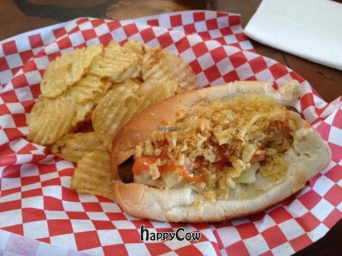 """Photo of CLOSED: Simon's Hot Dogs  by <a href=""""/members/profile/Tigra220"""">Tigra220</a> <br/>The Colombian vegan hot dog <br/> April 23, 2013  - <a href='/contact/abuse/image/30825/47304'>Report</a>"""
