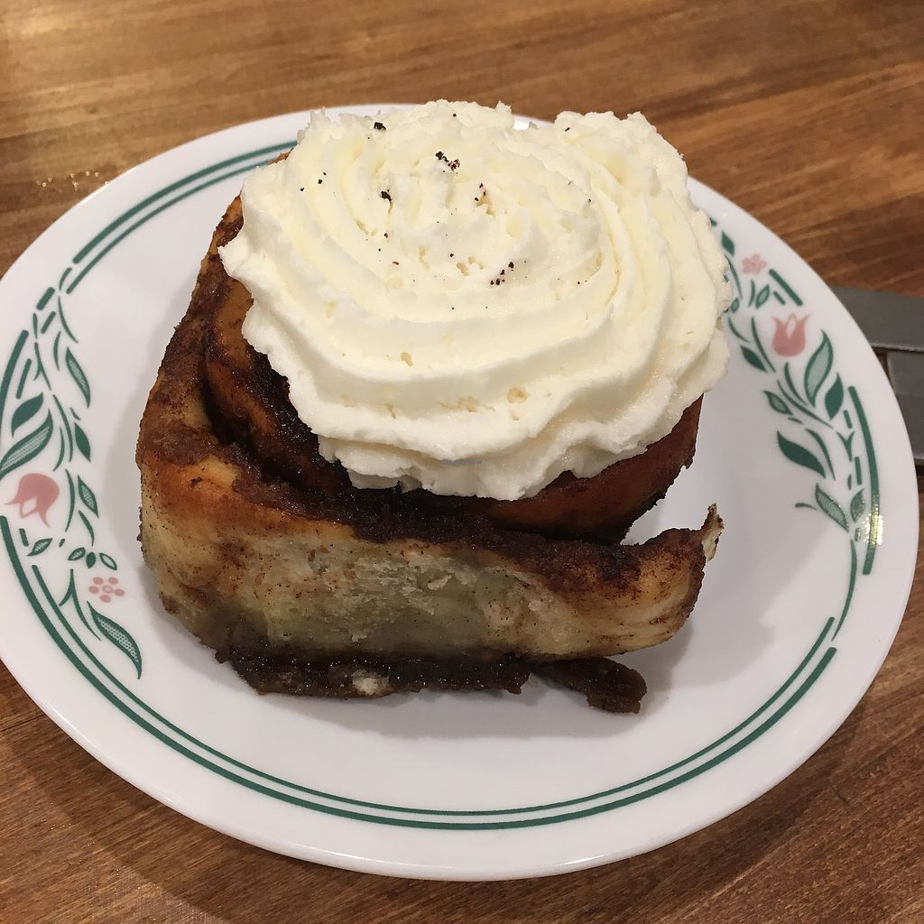 """Photo of The Clever Rabbit  by <a href=""""/members/profile/MarianaJE"""">MarianaJE</a> <br/>Best vegan cinnamon roll Ever!!!  <br/> January 13, 2018  - <a href='/contact/abuse/image/30845/346016'>Report</a>"""
