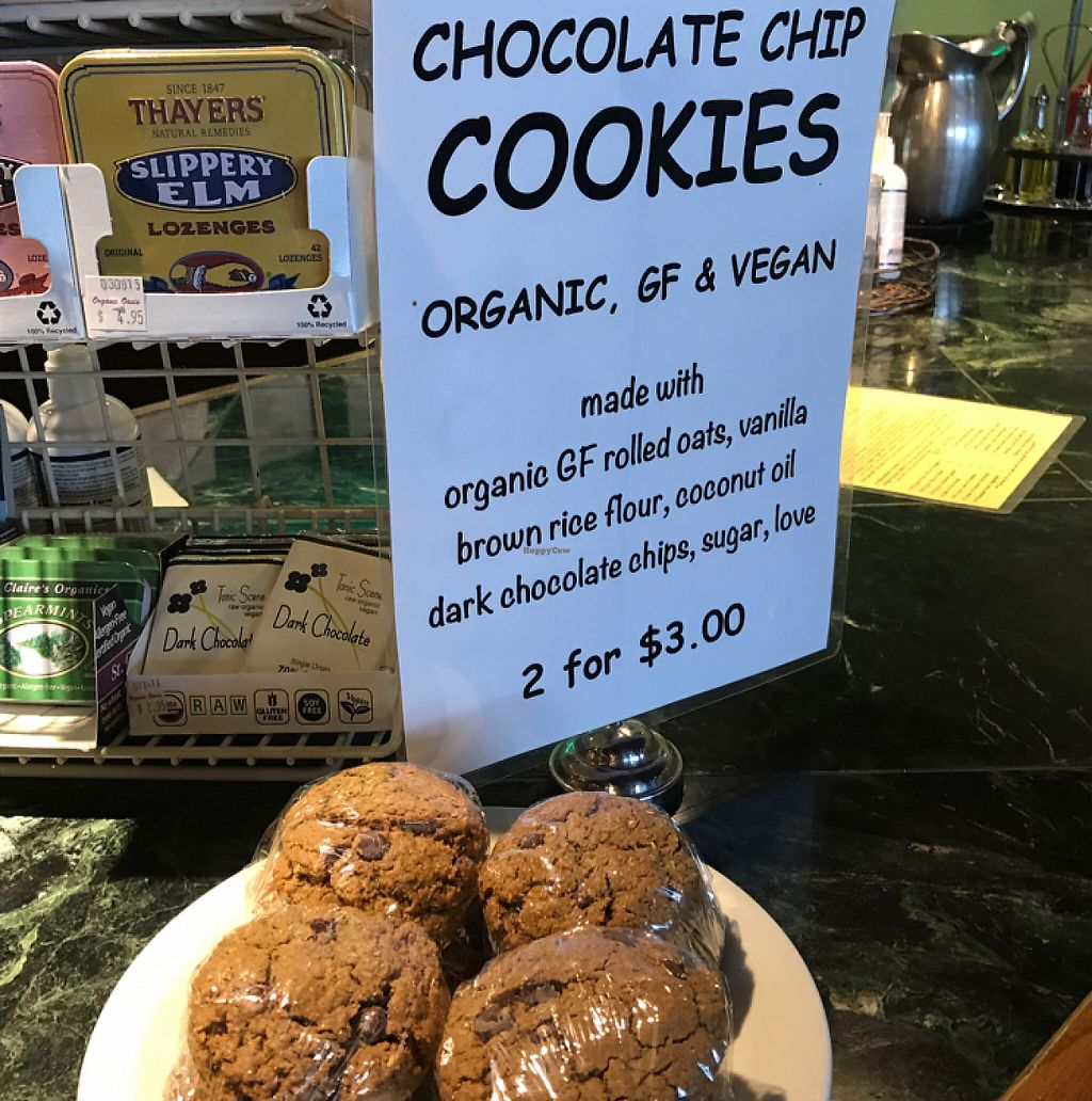 """Photo of Organic Oasis  by <a href=""""/members/profile/Sarah%20P"""">Sarah P</a> <br/>chocolate chip cookies <br/> May 6, 2017  - <a href='/contact/abuse/image/3087/256267'>Report</a>"""