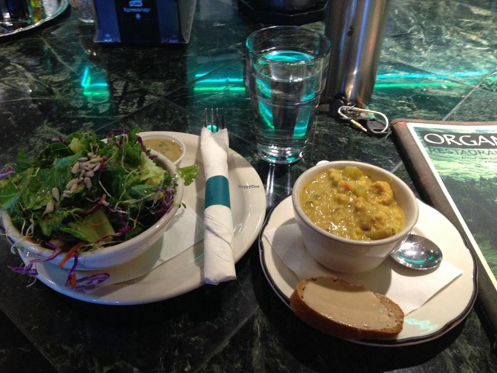 """Photo of Organic Oasis  by <a href=""""/members/profile/Sarah%20P"""">Sarah P</a> <br/>Soup and salad <br/> August 5, 2014  - <a href='/contact/abuse/image/3087/76129'>Report</a>"""
