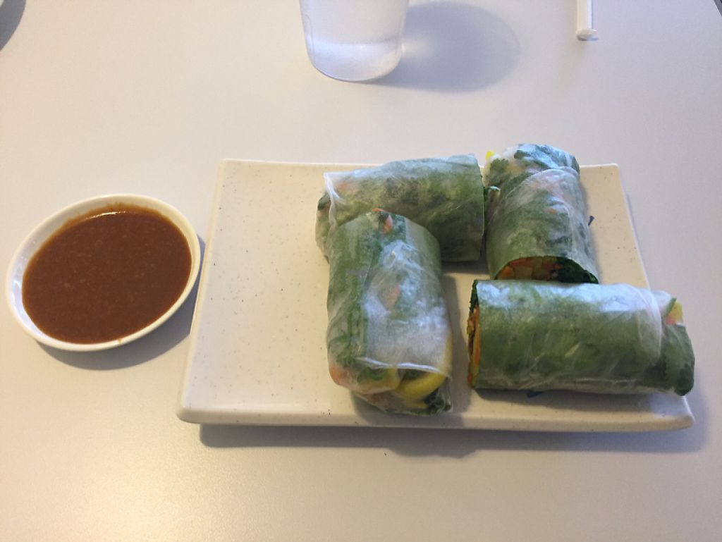 """Photo of Loving Hut  by <a href=""""/members/profile/LinnDaugherty"""">LinnDaugherty</a> <br/>delicious summer rolls!  <br/> November 20, 2016  - <a href='/contact/abuse/image/30897/192640'>Report</a>"""