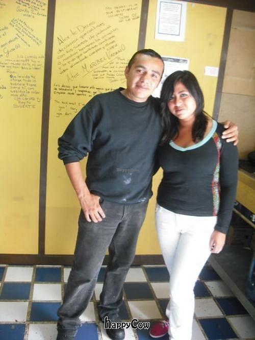 "Photo of CLOSED: Teotl Amayetzin - Cocina Artesanal Prehispanica  by <a href=""/members/profile/FatGayVegan"">FatGayVegan</a> <br/>Alex and Hilda in their restaurant <br/> September 23, 2012  - <a href='/contact/abuse/image/30903/38271'>Report</a>"
