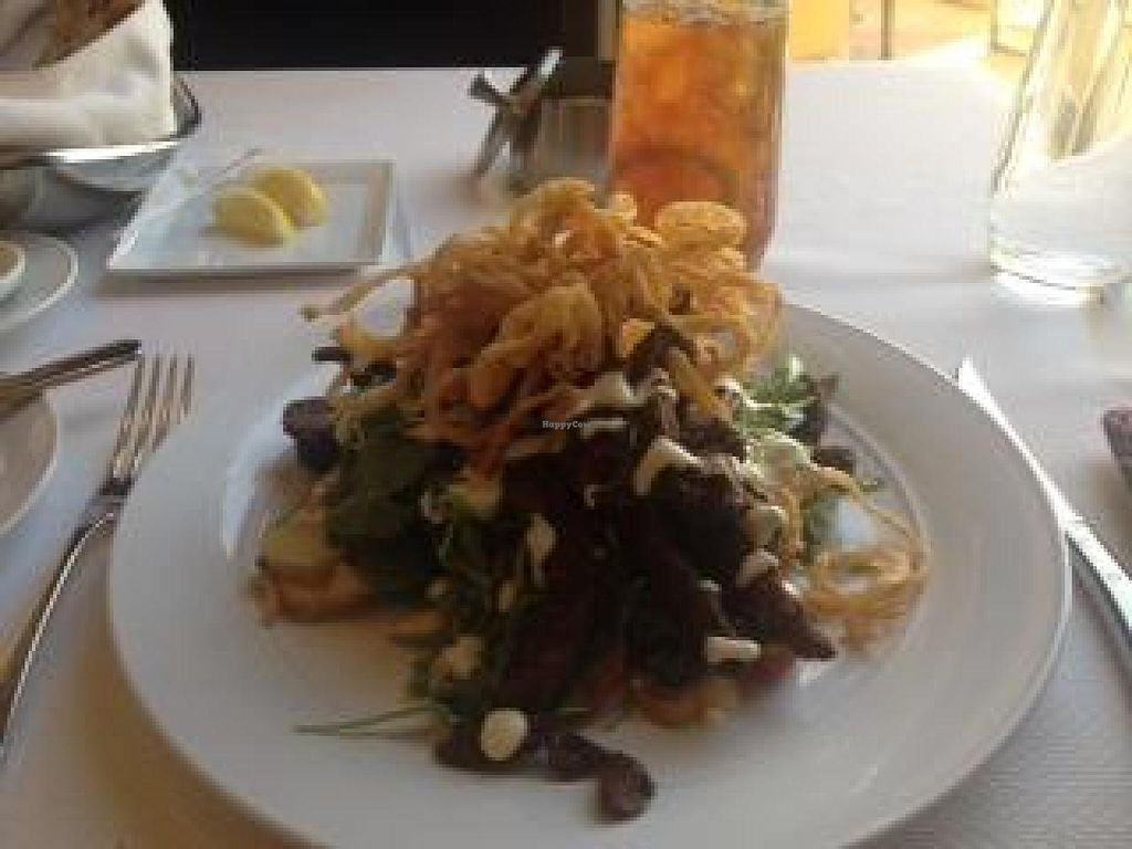 "Photo of Wynn Hotel - The Country Club  by <a href=""/members/profile/Lbatton"">Lbatton</a> <br/>Steak and Blue Salad - Seitan steak and vegan blue cheese dressing - amazing <br/> June 24, 2014  - <a href='/contact/abuse/image/30909/72653'>Report</a>"