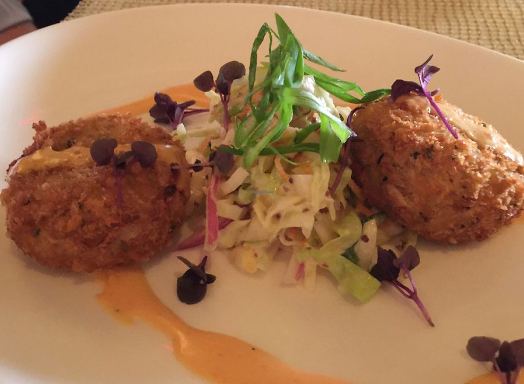 """Photo of Wynn Hotel - Lakeside  by <a href=""""/members/profile/LynnColettaVitiello"""">LynnColettaVitiello</a> <br/>Old Bay """"Crab"""" Cakes <br/> May 31, 2016  - <a href='/contact/abuse/image/30910/207725'>Report</a>"""