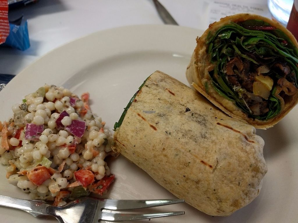 "Photo of Mustard Seed Cafe & Nassau Health Foods  by <a href=""/members/profile/pattib"">pattib</a> <br/>Vegan Wrap - grilled squash, onions, mushrooms, mixed greens, sprouts, and hummus  <br/> March 19, 2017  - <a href='/contact/abuse/image/30924/238152'>Report</a>"