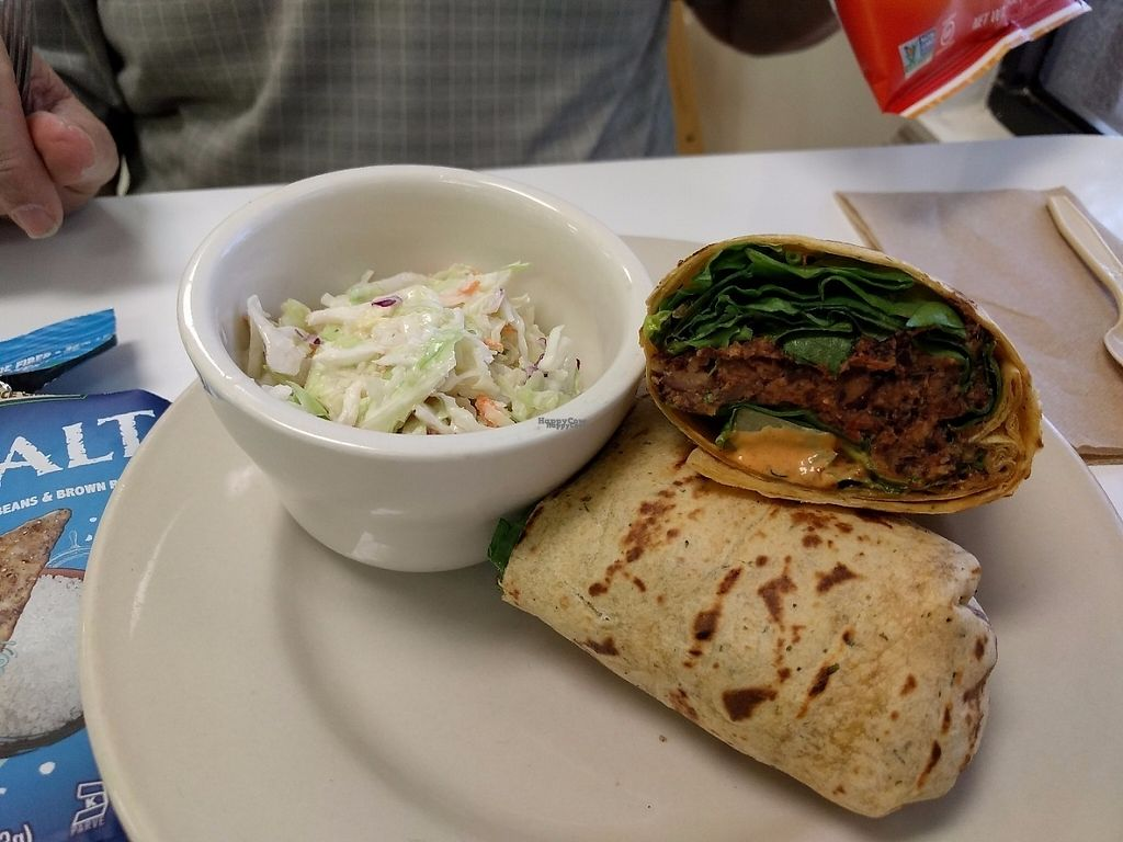 "Photo of Mustard Seed Cafe & Nassau Health Foods  by <a href=""/members/profile/pattib"">pattib</a> <br/>Black Bean wrap <br/> March 19, 2017  - <a href='/contact/abuse/image/30924/238153'>Report</a>"