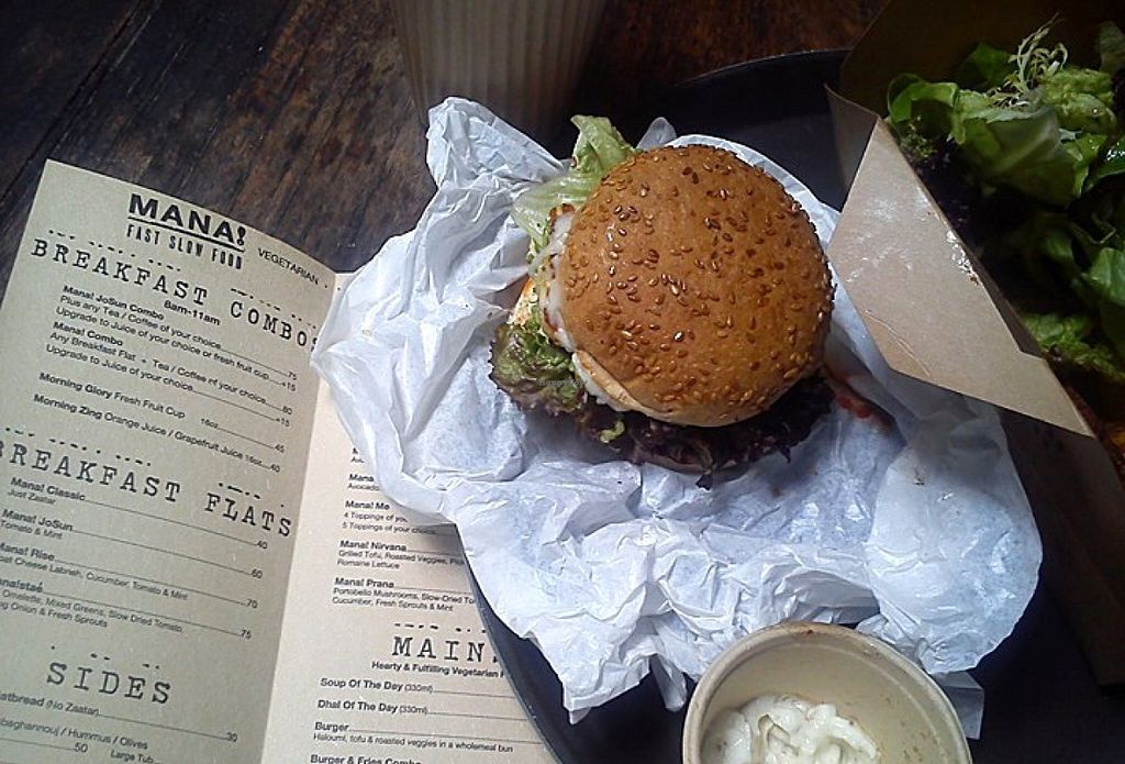 """Photo of Mana! Fast Slow Food  by <a href=""""/members/profile/ouikouik"""">ouikouik</a> <br/>mana burger <br/> October 5, 2015  - <a href='/contact/abuse/image/30930/120305'>Report</a>"""