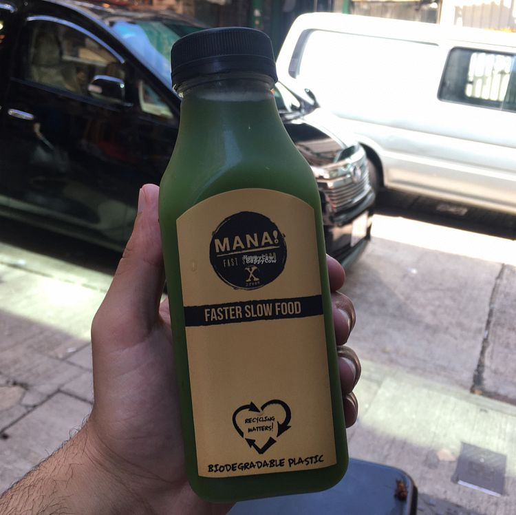 """Photo of Mana! Fast Slow Food  by <a href=""""/members/profile/Abdulaziz"""">Abdulaziz</a> <br/>Green cold pressed juice <br/> September 12, 2016  - <a href='/contact/abuse/image/30930/175208'>Report</a>"""