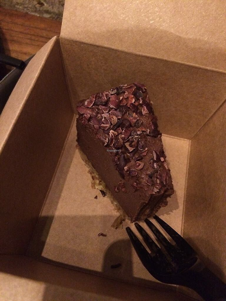 """Photo of Mana! Fast Slow Food  by <a href=""""/members/profile/HungryEaters"""">HungryEaters</a> <br/>raw chocolate cake! so good! <br/> September 22, 2017  - <a href='/contact/abuse/image/30930/307058'>Report</a>"""