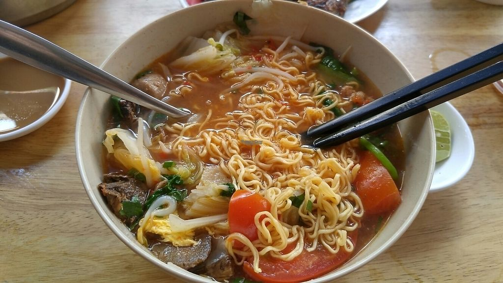 """Photo of Mi Chay Vegetarian  by <a href=""""/members/profile/NguyenThanhNhan"""">NguyenThanhNhan</a> <br/>tomyum noodle soup, better asking for a ramen <br/> April 2, 2017  - <a href='/contact/abuse/image/30931/243875'>Report</a>"""