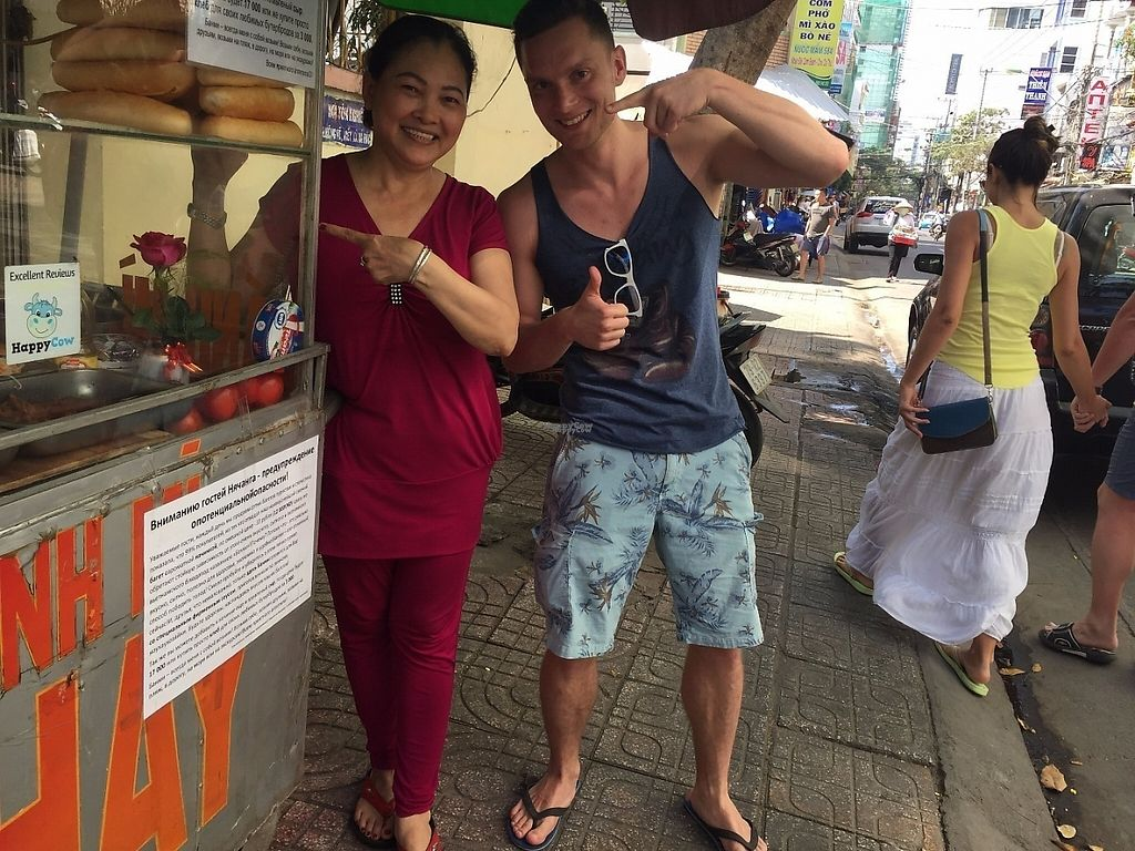 """Photo of Chay Banh Mi - Food Cart  by <a href=""""/members/profile/MichaelAroundTheWorld"""">MichaelAroundTheWorld</a> <br/>Dinh and me! <br/> March 16, 2017  - <a href='/contact/abuse/image/30933/237081'>Report</a>"""