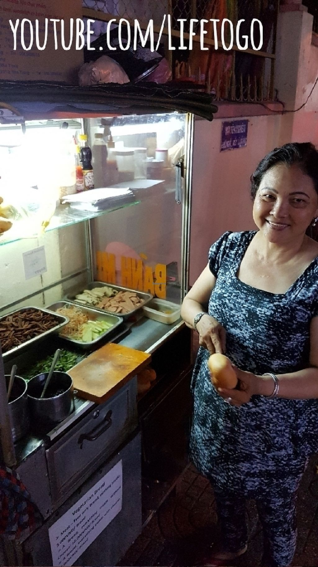 """Photo of Chay Banh Mi - Food Cart  by <a href=""""/members/profile/Lifetogo"""">Lifetogo</a> <br/>Great vegan fast food. Ordered 7 in one evening! ? <br/> May 8, 2017  - <a href='/contact/abuse/image/30933/257123'>Report</a>"""