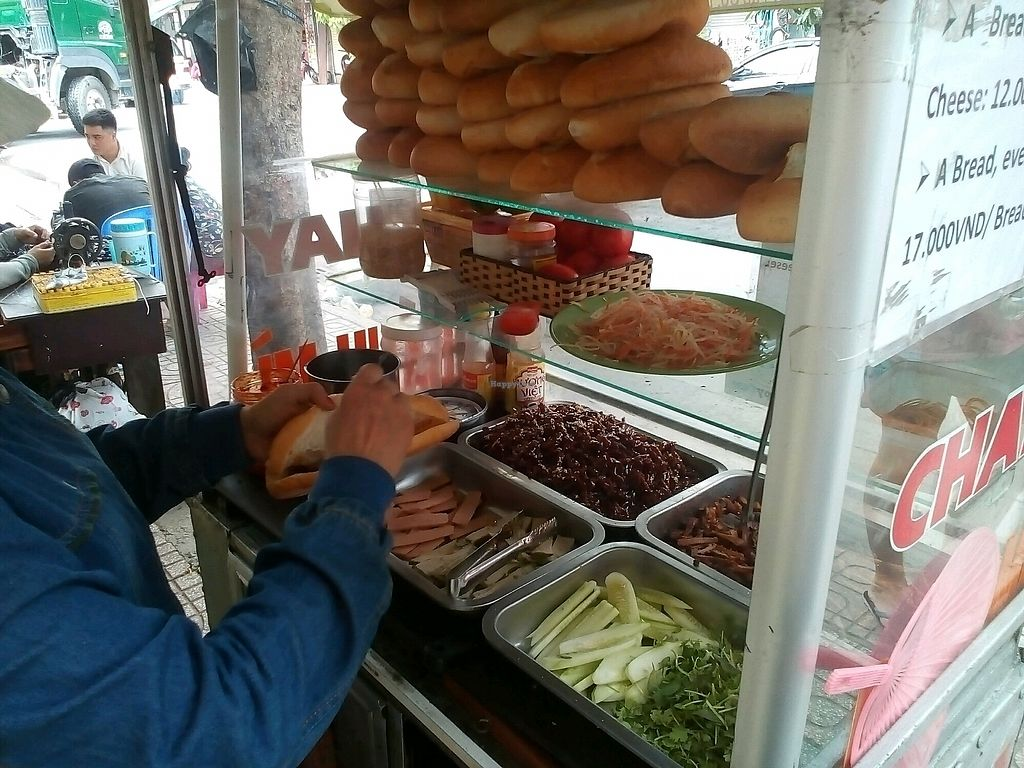 """Photo of Chay Banh Mi - Food Cart  by <a href=""""/members/profile/RitaFeij%C3%A3o"""">RitaFeijão</a> <br/>the ingredients <br/> October 16, 2017  - <a href='/contact/abuse/image/30933/315830'>Report</a>"""