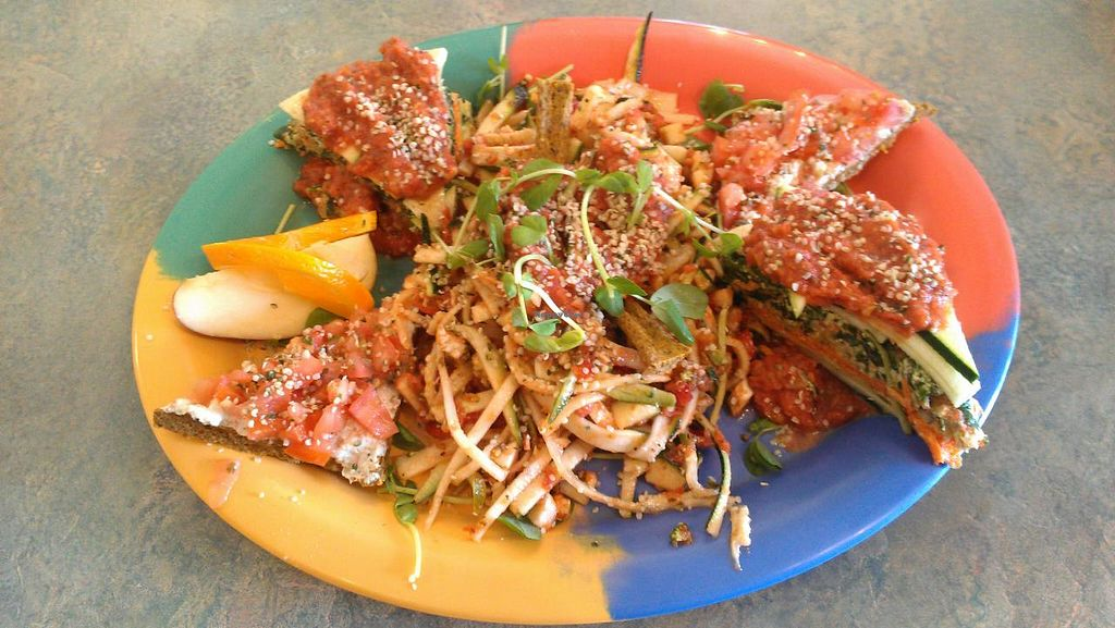 """Photo of CLOSED: Go Raw Cafe - Lake East  by <a href=""""/members/profile/kenvegan"""">kenvegan</a> <br/>Italian Sampler at Go Raw Cafe <br/> May 19, 2014  - <a href='/contact/abuse/image/3093/70272'>Report</a>"""