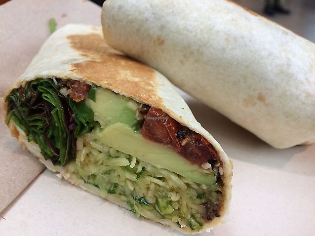 """Photo of Funk You Natural Food  by <a href=""""/members/profile/Dancingbarefoot"""">Dancingbarefoot</a> <br/>vegan wrap <br/> July 28, 2017  - <a href='/contact/abuse/image/30960/285920'>Report</a>"""