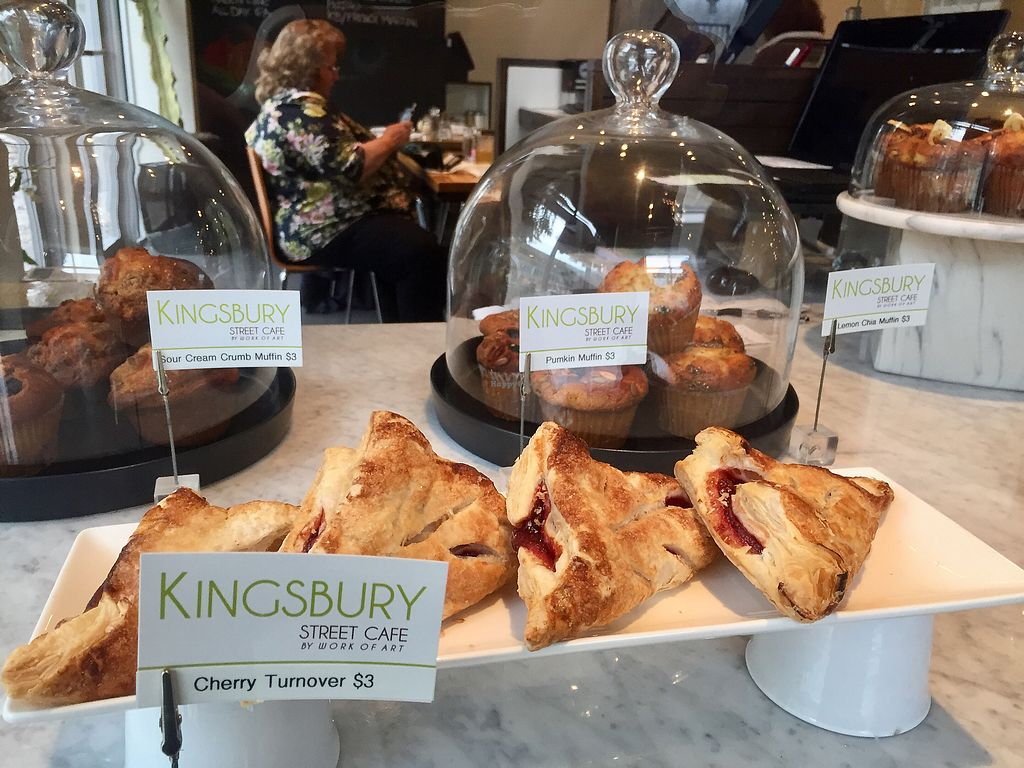 "Photo of Kingsbury Street Cafe  by <a href=""/members/profile/happycowgirl"">happycowgirl</a> <br/>No vegan pastries : ( <br/> November 3, 2017  - <a href='/contact/abuse/image/30964/321563'>Report</a>"