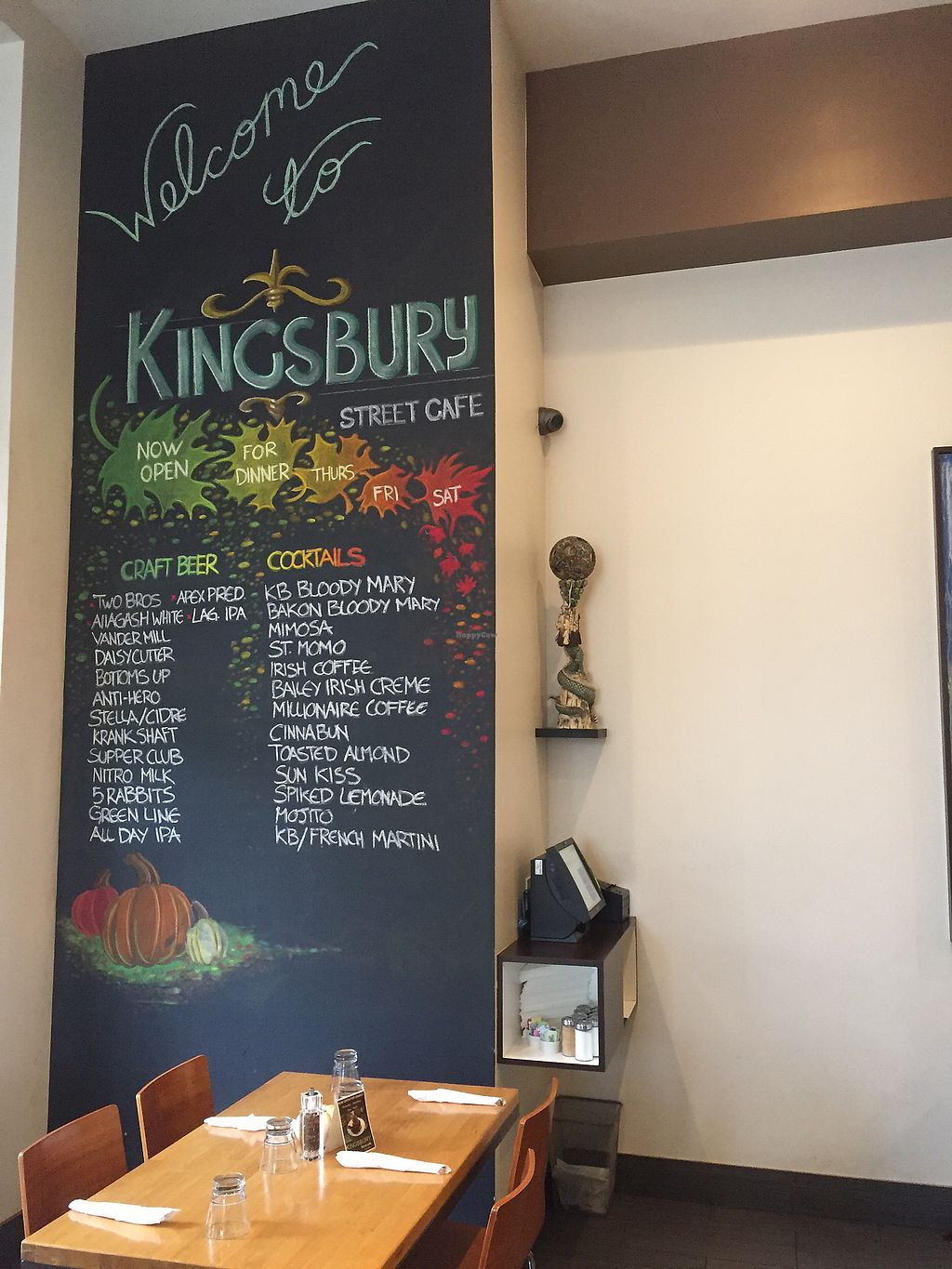 "Photo of Kingsbury Street Cafe  by <a href=""/members/profile/happycowgirl"">happycowgirl</a> <br/>   <br/> November 4, 2017  - <a href='/contact/abuse/image/30964/321570'>Report</a>"