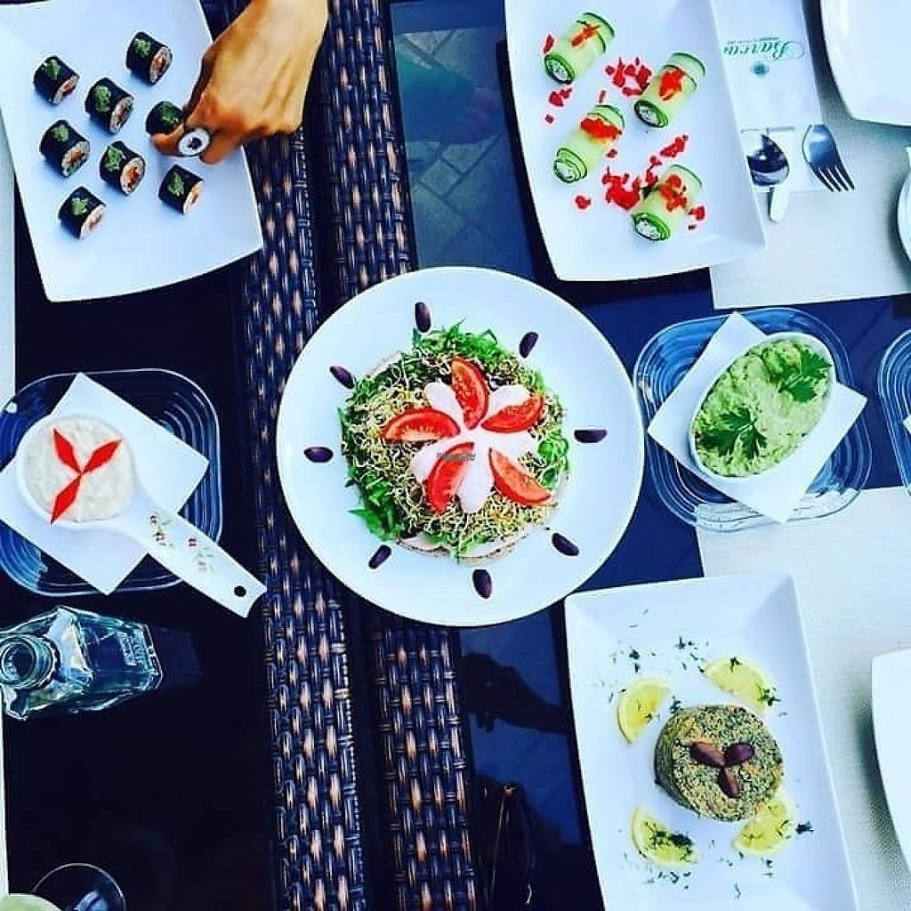 """Photo of Barca  by <a href=""""/members/profile/PanaitCipriani"""">PanaitCipriani</a> <br/>Almond sushi, raw pizza, raw zuchinni rolls and sunflower seeds paté, buckwheat cream, guacamole and mushroom terrine <br/> March 17, 2017  - <a href='/contact/abuse/image/31031/237573'>Report</a>"""
