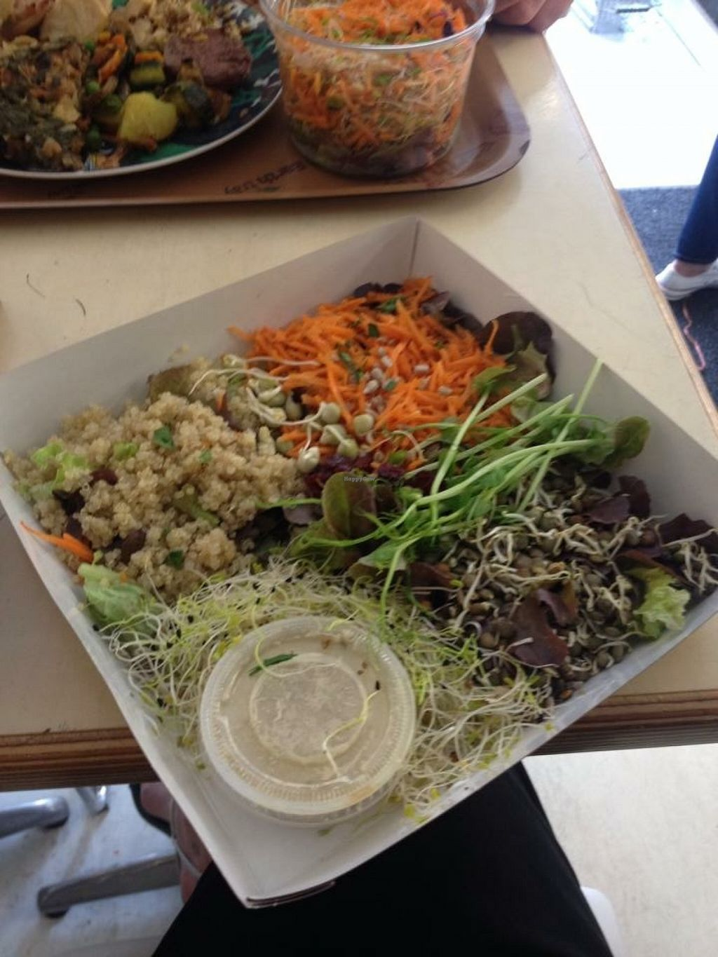 Photo of Le Bio d'Adam et Eve  by karolina.bujakova <br/>Delicious meals, especially salads and their dressings!  <br/> September 9, 2015  - <a href='/contact/abuse/image/31032/117185'>Report</a>