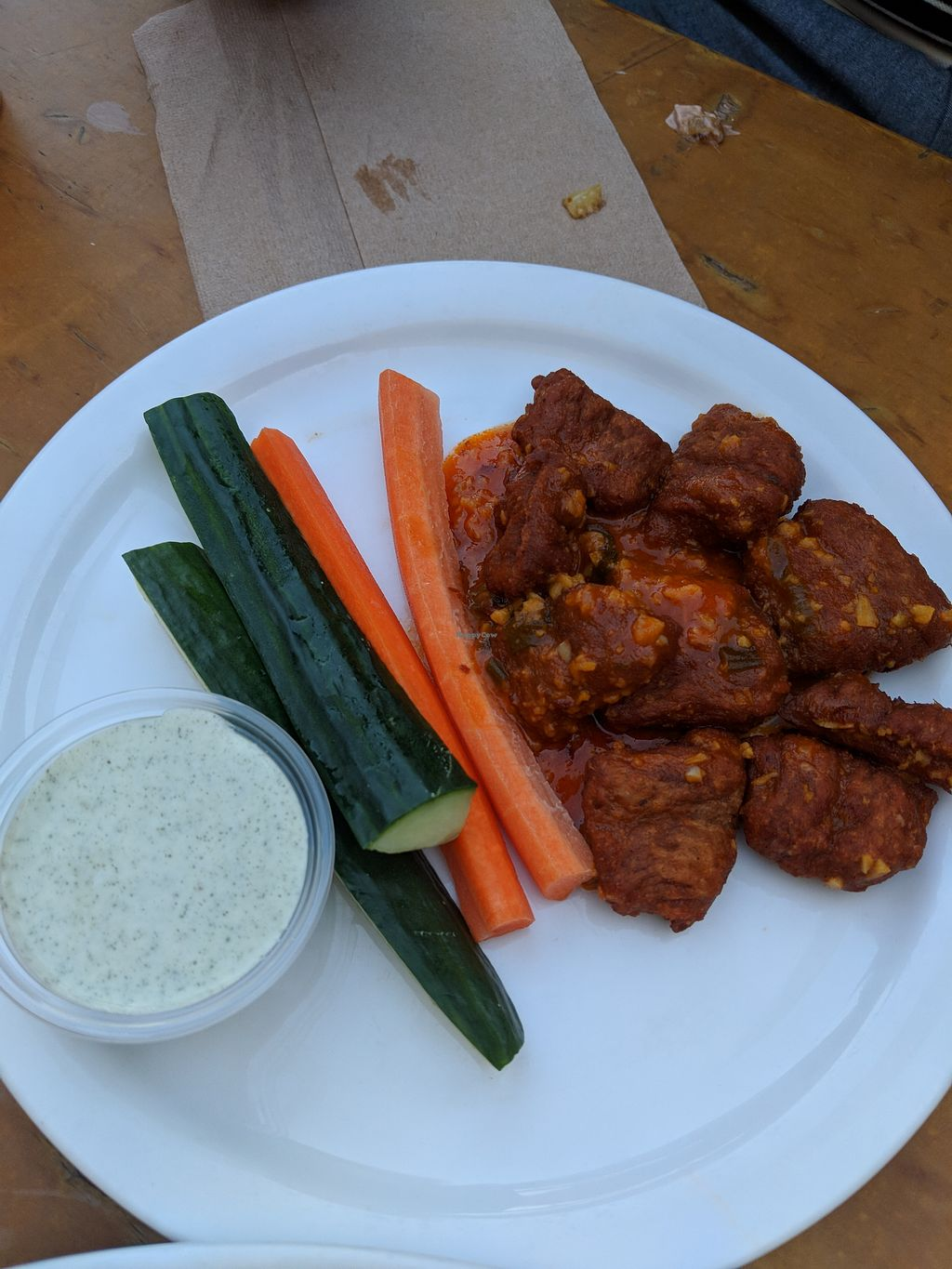 """Photo of Green New American Vegetarian  by <a href=""""/members/profile/Annik_Rousseau"""">Annik_Rousseau</a> <br/>Buffalo wings <br/> April 27, 2018  - <a href='/contact/abuse/image/31065/391503'>Report</a>"""