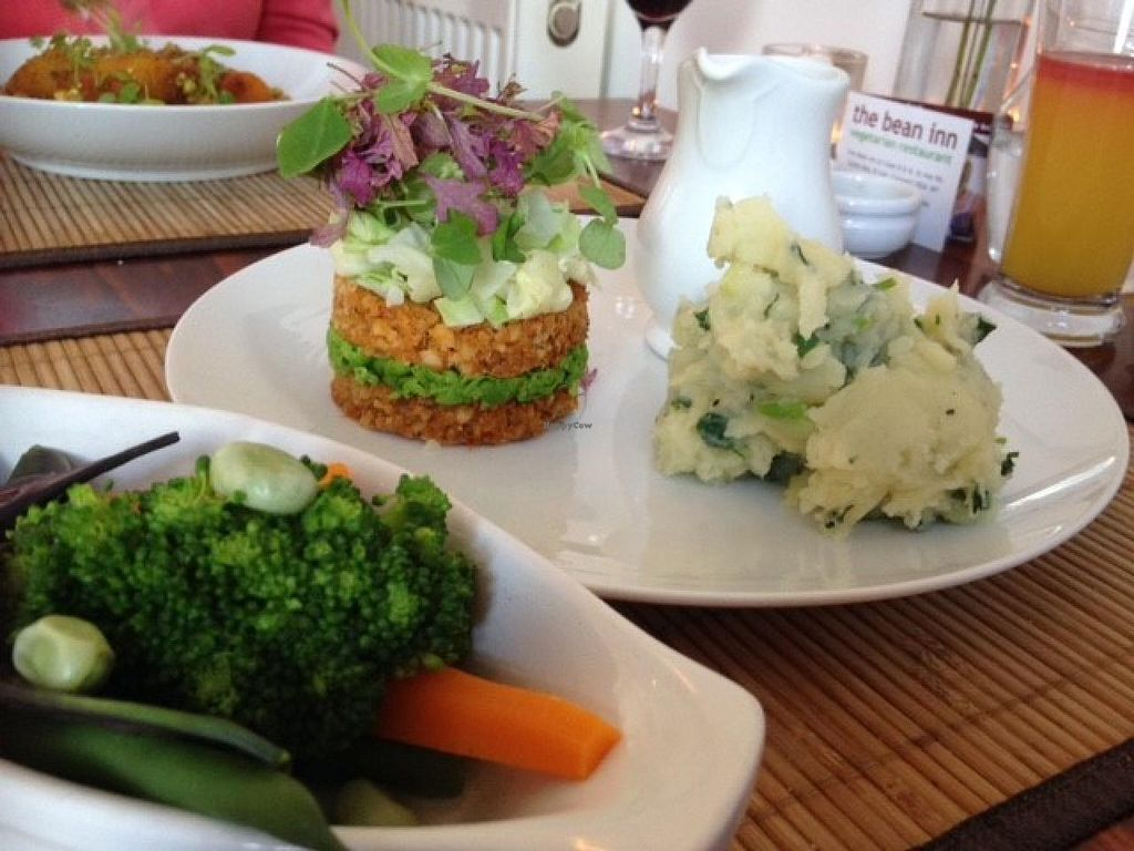 """Photo of The Bean Inn  by <a href=""""/members/profile/pdw96"""">pdw96</a> <br/>The Bean Inn - Cashew and Brazil Nut Loaf (roast dinner) <br/> July 21, 2015  - <a href='/contact/abuse/image/3106/110404'>Report</a>"""