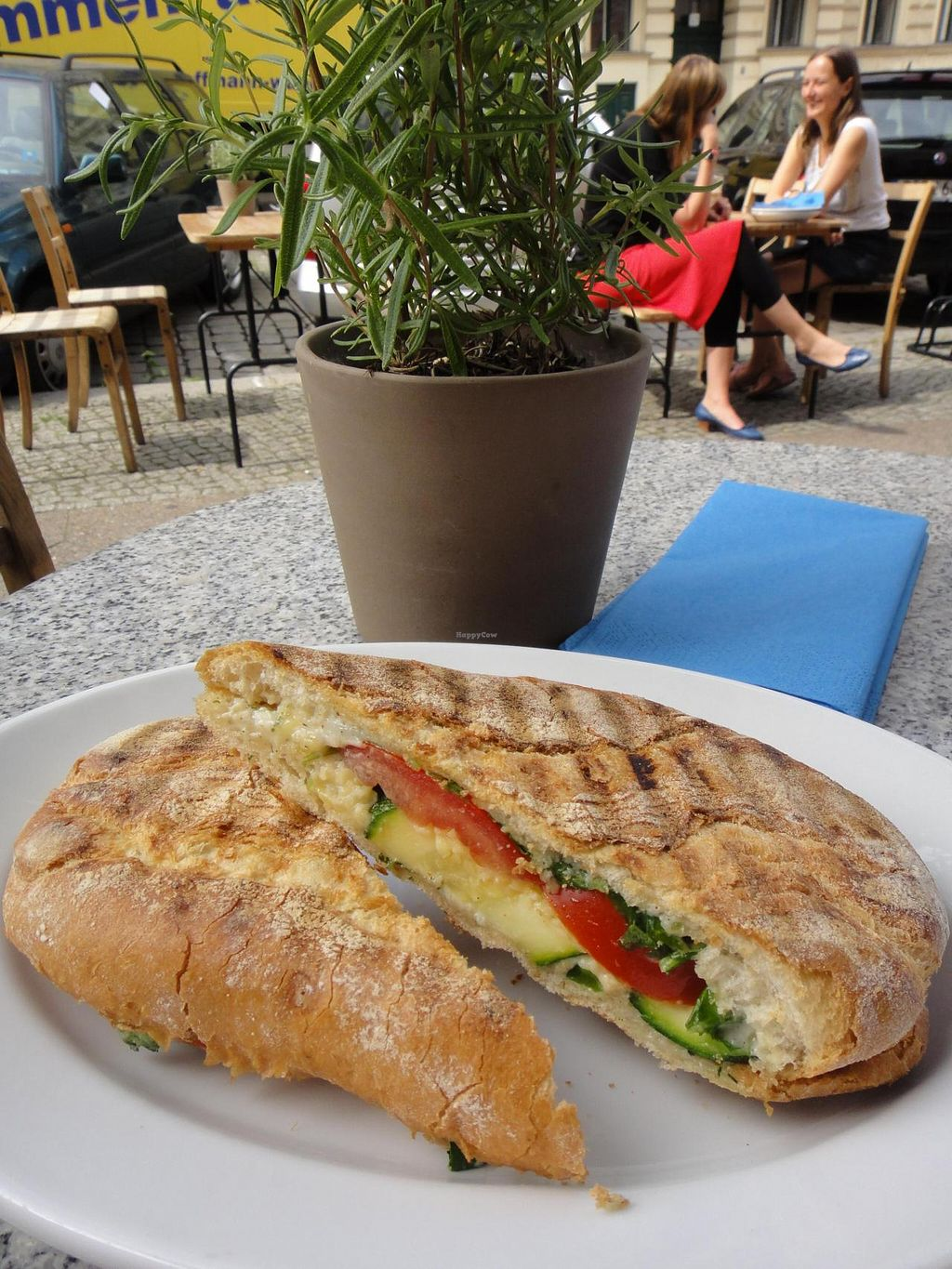 "Photo of CLOSED: Freckles  by <a href=""/members/profile/EmilyBennett3050"">EmilyBennett3050</a> <br/>Panini with vegan cheese and zucchini, 4 euros, at Freckles.  <br/> August 15, 2014  - <a href='/contact/abuse/image/31087/77036'>Report</a>"