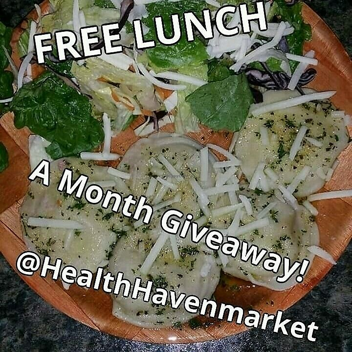 """Photo of Health Haven Market  by <a href=""""/members/profile/HEALTHHAVENMARKET"""">HEALTHHAVENMARKET</a> <br/>Do you want a FREE Lunch? Stop by HEALTH HAVEN MARKET IN HAINESPORT NJ and find out how!! #healthhavenmarket #healthhavenmarketfans #freelunch #vegan <br/> April 14, 2018  - <a href='/contact/abuse/image/3109/385870'>Report</a>"""