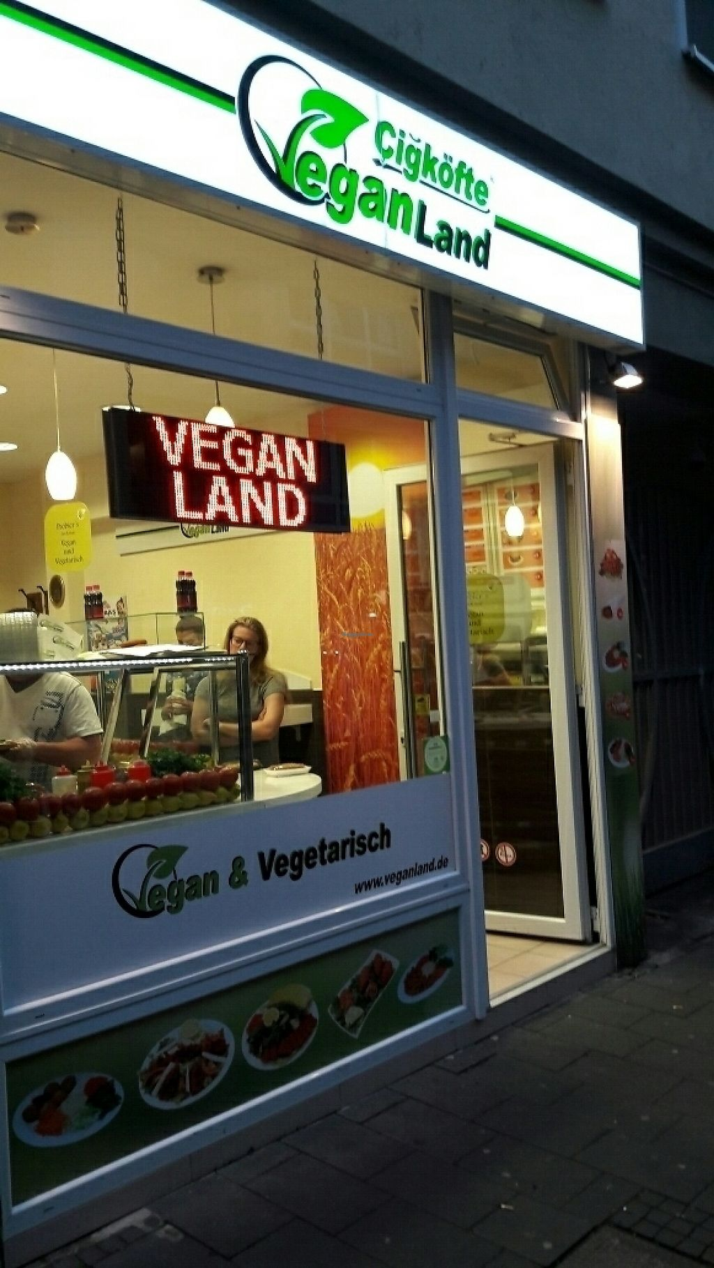 """Photo of Cigkofte Veganland - Weidengasse  by <a href=""""/members/profile/piffelina"""">piffelina</a> <br/>Hard to miss? <br/> June 2, 2017  - <a href='/contact/abuse/image/31100/265112'>Report</a>"""