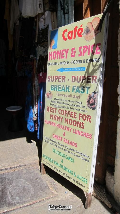 "Photo of Honey and Spice  by <a href=""/members/profile/Aurelia"">Aurelia</a> <br/>Look for this sign on the street to point you toward the cafe <br/> March 23, 2012  - <a href='/contact/abuse/image/31103/29802'>Report</a>"