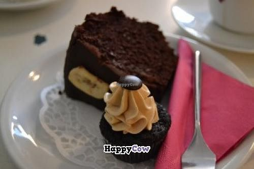 """Photo of Liebes Bisschen  by <a href=""""/members/profile/proudtobveggie"""">proudtobveggie</a> <br/>Cupcake with peanut cream and chocolate and banana cake <br/> November 12, 2013  - <a href='/contact/abuse/image/31118/58405'>Report</a>"""