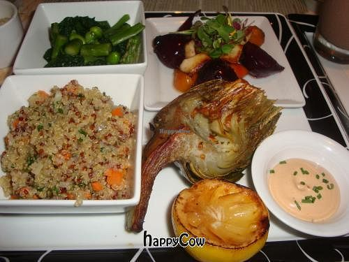 """Photo of CLOSED: Wynn Encore Hotel - Society Cafe  by <a href=""""/members/profile/Sonja%20and%20Dirk"""">Sonja and Dirk</a> <br/>vegetable plate <br/> August 20, 2012  - <a href='/contact/abuse/image/31141/36501'>Report</a>"""