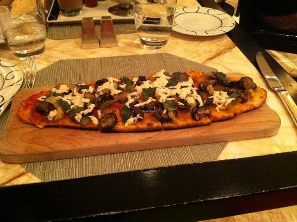 """Photo of CLOSED: Wynn Encore Hotel - Society Cafe  by <a href=""""/members/profile/Meggie%20and%20Ben"""">Meggie and Ben</a> <br/>Flatbread pizza <br/> December 1, 2014  - <a href='/contact/abuse/image/31141/86970'>Report</a>"""