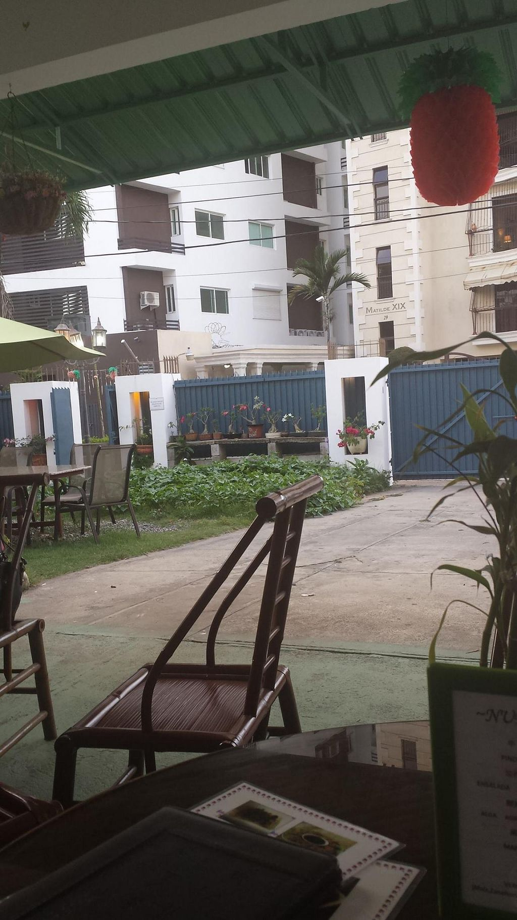 """Photo of Jardin Verde  by <a href=""""/members/profile/vegansoul"""">vegansoul</a> <br/>View of garden from the tables <br/> June 7, 2014  - <a href='/contact/abuse/image/31149/71580'>Report</a>"""