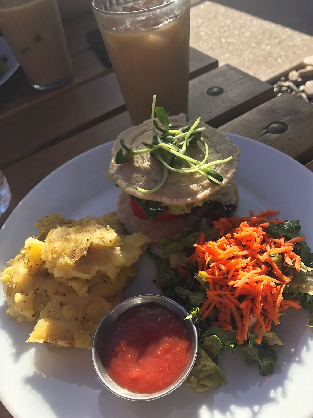 """Photo of The Uprooted Kitchen  by <a href=""""/members/profile/peggyp"""">peggyp</a> <br/>Tempeh Breakfast Sandwich & Cold Brew Coffee <br/> October 22, 2017  - <a href='/contact/abuse/image/31151/317713'>Report</a>"""