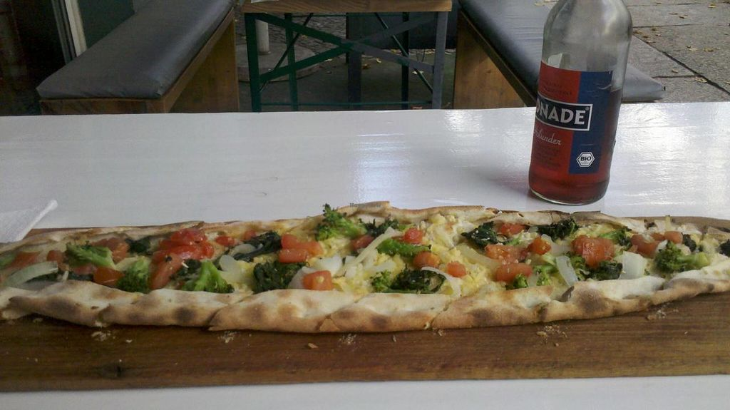 """Photo of Zeus Pizza  by <a href=""""/members/profile/Doro%2A"""">Doro*</a> <br/>my vegan Pide <br/> October 15, 2014  - <a href='/contact/abuse/image/31165/83042'>Report</a>"""