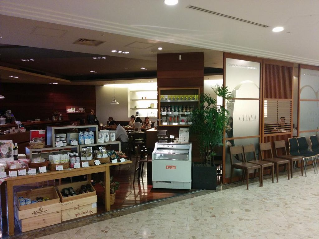 "Photo of Chaya Macrobiotics - Hibiya  by <a href=""/members/profile/VeggieNextDoor"">VeggieNextDoor</a> <br/>Chaya restaurant exterior <br/> June 16, 2015  - <a href='/contact/abuse/image/31200/106204'>Report</a>"