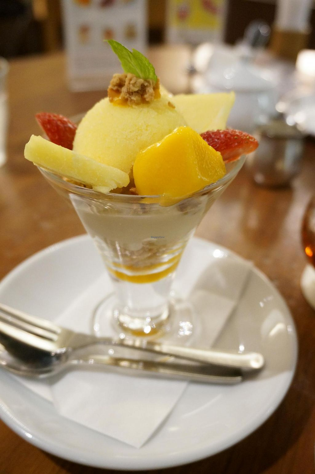 "Photo of Chaya Macrobiotics - Hibiya  by <a href=""/members/profile/Ricardo"">Ricardo</a> <br/>Pineapple Sherbet, Mango and Granola Parfait <br/> June 9, 2014  - <a href='/contact/abuse/image/31200/71742'>Report</a>"