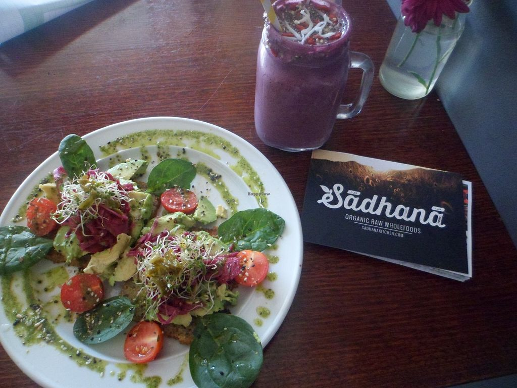 """Photo of CLOSED: Sadhana Kitchen  by <a href=""""/members/profile/Veg_travels"""">Veg_travels</a> <br/>Raw vegan heaven <br/> March 25, 2016  - <a href='/contact/abuse/image/31212/141293'>Report</a>"""